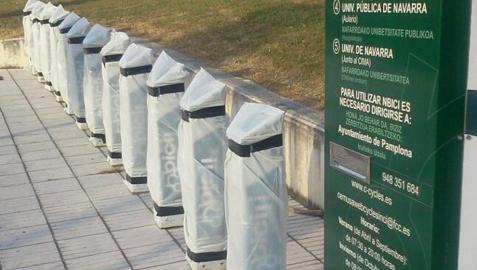 Nbici retira las bicicletas de la calle durante las fiestas de San Fermín 2012