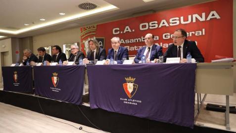 La Asamblea de socios de Osasuna, en directo