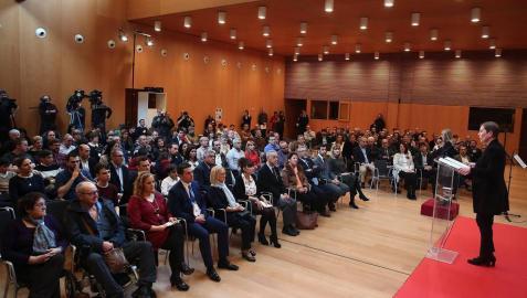 Imágenes del acto en Pamplona celebrado con motivo del Día Europeo en su recuerdo.