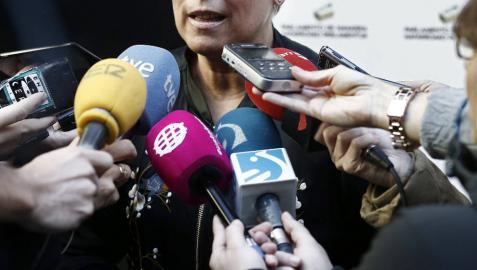La presidenta del Gobierno de Navarra, Uxue Barkos.