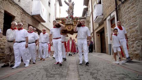 Fotos del encierro y la procesión de las fiestas de Sangüesa, 12 de septiembre de 2018