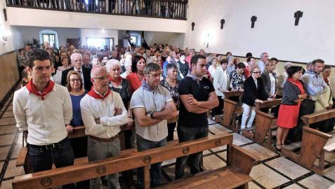 Alsasua celebró el día grande de sus fiestas con una misa, almuerzo y bailes al son del txistu
