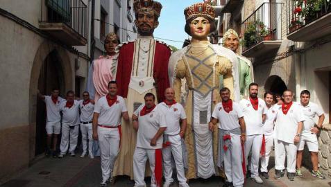 Despedida de los gigantes y encierro en el último día de las fiestas de Sangüesa (17 de septiembre)