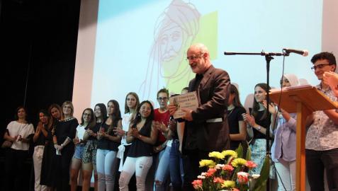 Fernando Aramburu recoge el Premio Benjamín de Tudela por 'Patria'