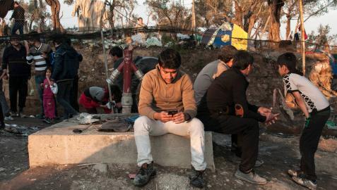 El campo de refugiados de Moria, en Lesbos,