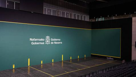Visita guiada de los medios de comunicación en el pabellón Navarra Arena