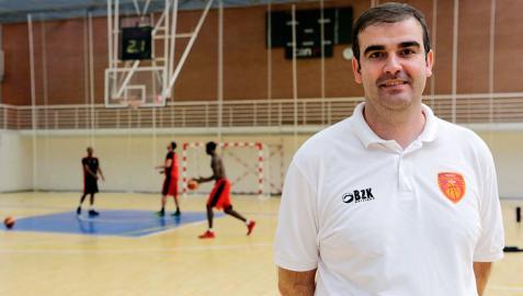 David Mangas, entrenador del Basket Navarra: