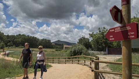 La vía verde del Vasco Navarro, terminada entre Estella y Zúñiga
