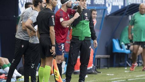 Lillo recibe 15 puntos de sutura tras el partido Osasuna-Córdoba