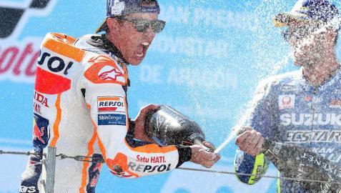 Márquez no falla en Motorland y gana el Gran Premio de Aragón