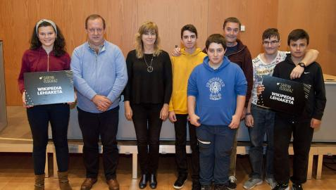 Los institutos de Santesteban y Ochagavía, ganadores del primer concurso Wikilehiaketa