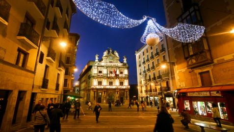 Este viernes se encienden las luces de Navidad en las calles de Pamplona