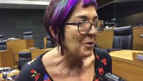 Tere Saez, tras su expulsión del grupo parlamentario de Podemos-Orain Bai