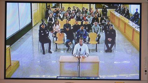 La Audiencia rectifica y rebaja de 13 a 10 años la pena a un acusado de Alsasua