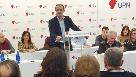 Esparza justifica la presencia de UPN en Madrid