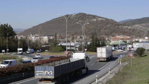 Vista del tramo entre Olaz y Olloki, en la entrada al área de Itaroa.