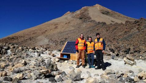 Investigadores de la UPNA intentan aprovechar la energía renovable del volcán