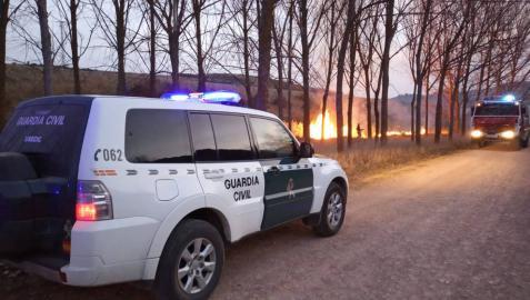 Declarados varios incendios forestales en Navarra