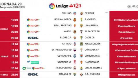El Málaga-Osasuna se jugará el lunes, 11 de marzo, a las 21 horas