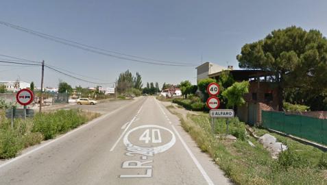 Herido un vecino de Tudela en una colisión entre dos coches en Alfaro