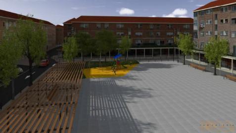 El nuevo diseño de la  plaza Zumalakarregi incorporará una pérgola en Alsasua