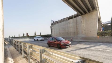 Reabierta la autovía A-68 en Tudela