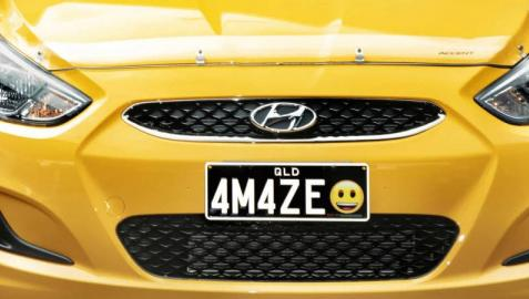¿Qué emoticono le pondrías a la matrícula de tu coche? Australia ya lo permite