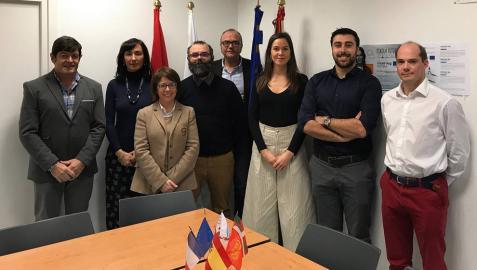 Asistentes al acto de lanzamiento del proyecto transfronterizo F-COMP