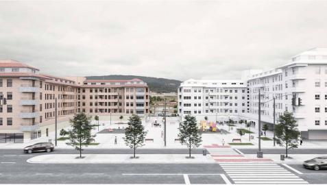 Recreación a zona del hotel Carioca y de la gasolinera en Berriozar con los nuevos planes urbanísticos.