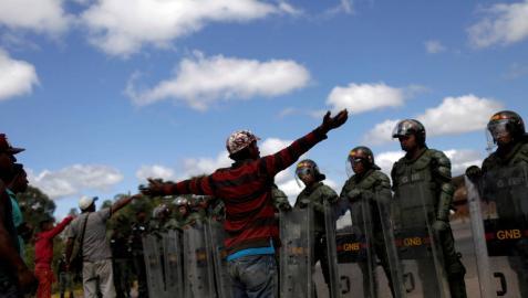 Mueren dos personas en los incidentes de la frontera entre Venezuela y Brasil