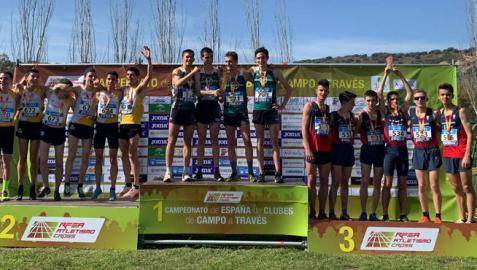Dos platas y un bronce en Linares para el Grupompleo Pamplona Atlético