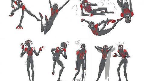 Detalles de dibujos de Spiderman creados por Jesús Alonso Iglesias para la película 'Spider-Man: Un nuevo universo'.