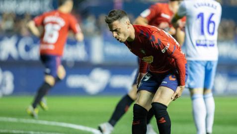 Barja se duele tras sufrir la lesión en la parte anterior del muslo ante el Zaragoza.