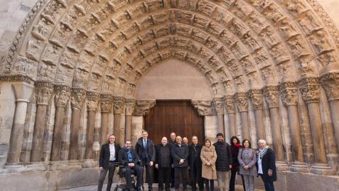 La puerta de la Catedral de Tudela, restaurada tras 15 meses de obra