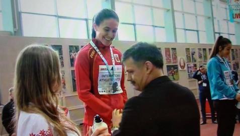 Asier Martínez y Carmen Riaño brillan en Minsk