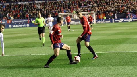 Imágenes del partido Osasuna-Zaragoza disputado en El Sadar.