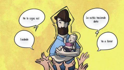 El autor del cómic '100 crisis de un papa primerizo' habla de sus vivencias en Pamplona