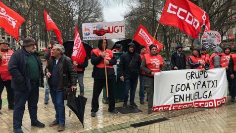 CCOO convoca huelga en la empresa Igoa y Patxi desde el lunes
