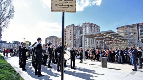 La banda musical la Pamplonesa ya tiene una plaza con su nombre