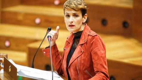 Chivite responde a Ciudadanos que la política de pactos en Navarra la decide el PSN