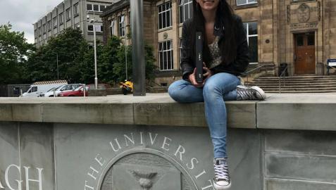 Una navarra, investigadora química en Edimburgo (Escocia)