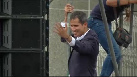 Juan Guaidó entra libremente en Venezuela
