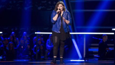 Hannah Labotka cantó 'When we were young' anoche en 'La Voz'.