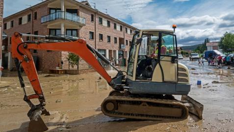 Villatuerta se protege frente a las inundaciones