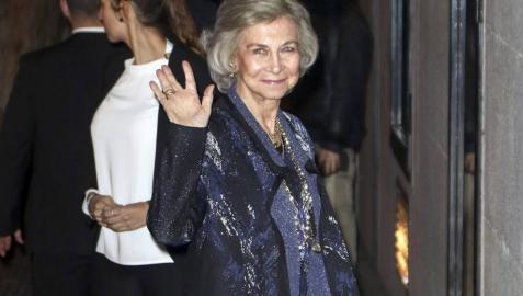 La reina Sofía asiste a la fiesta del 80 cumpleaños de la infanta Margarita