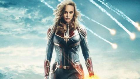 Brie Larson en el papel de 'Capitana Marvel'.