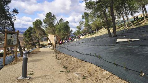 Artajona acondiciona un espacio ambiental en la ladera sur del Cerco