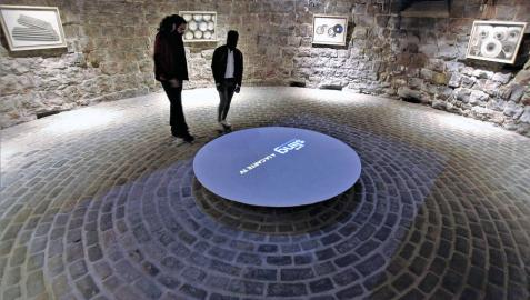 Los ocho cuadros ocupan el espacio circular del Horno de la Ciudadela.
