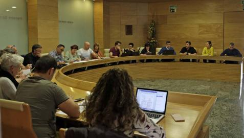 Vista de un pleno del Ayuntamiento de Ansoáin.