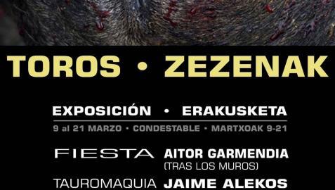 Iruñea Antitaurina inaugura una exposición sobre el maltrato animal en San Fermín